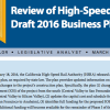 Tip Toeing around CHSRA's 2016 business plan – Legislative Analyst